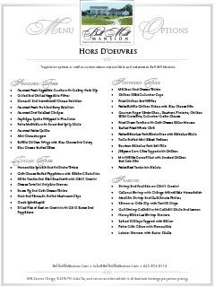 Bell Mill Mansion | Hors doeuvre - Thumbnail