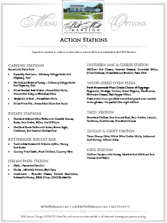 Bell Mill Mansion | Action Stations Menu - Thumbnail