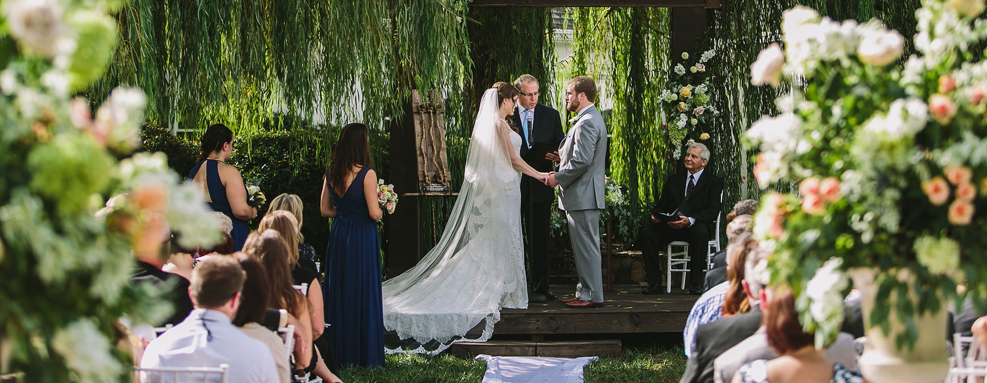 Outdoor Wedding Ceremonies at Bell Mill Mansion