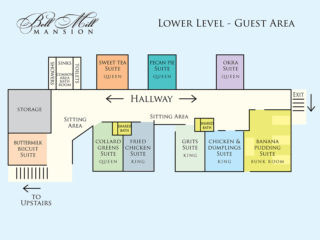 Bell Mill Mansion | Floor Plan - Lower Level