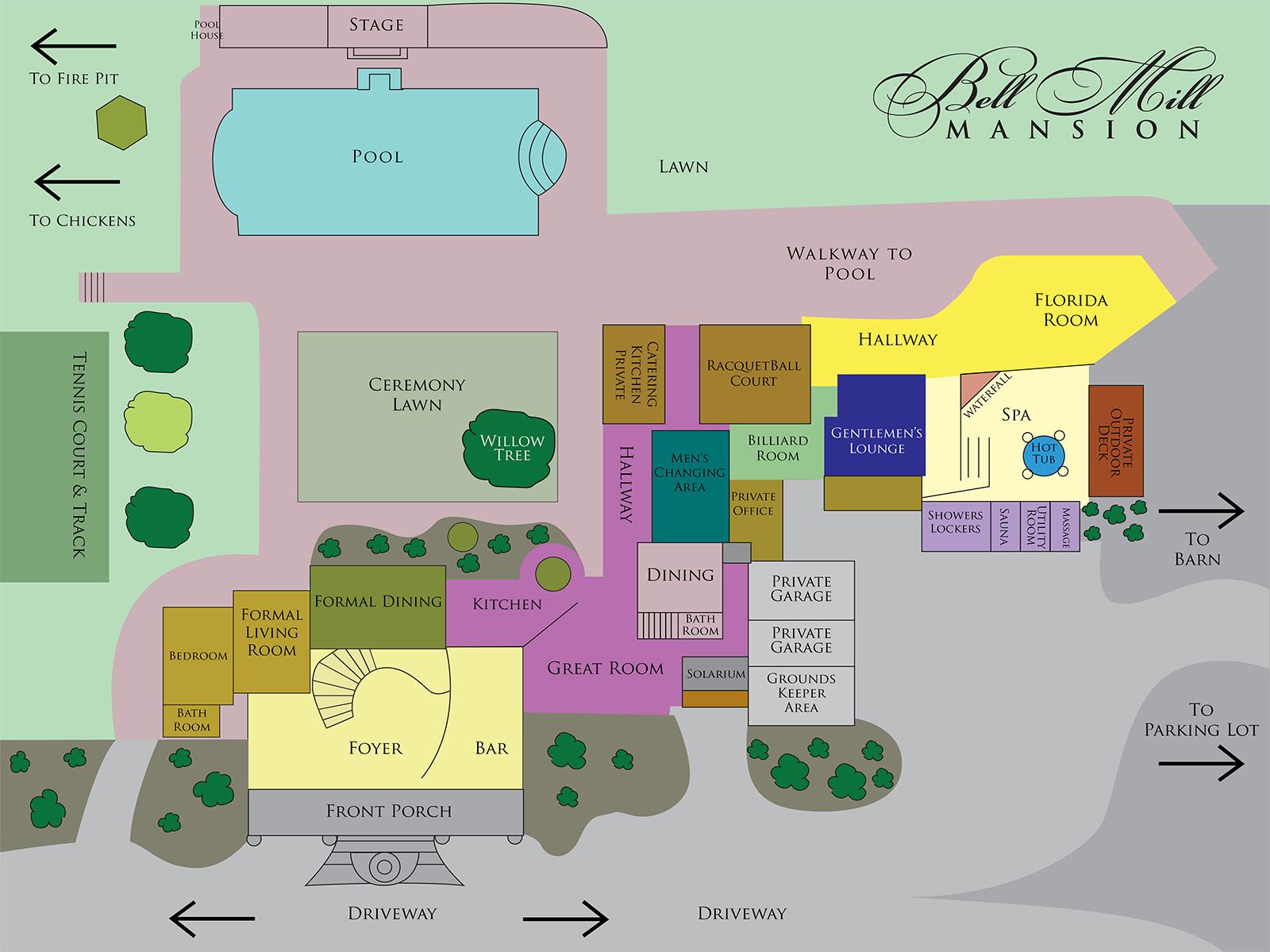 Bell Mill Mansion | Floor Plan - Main Level