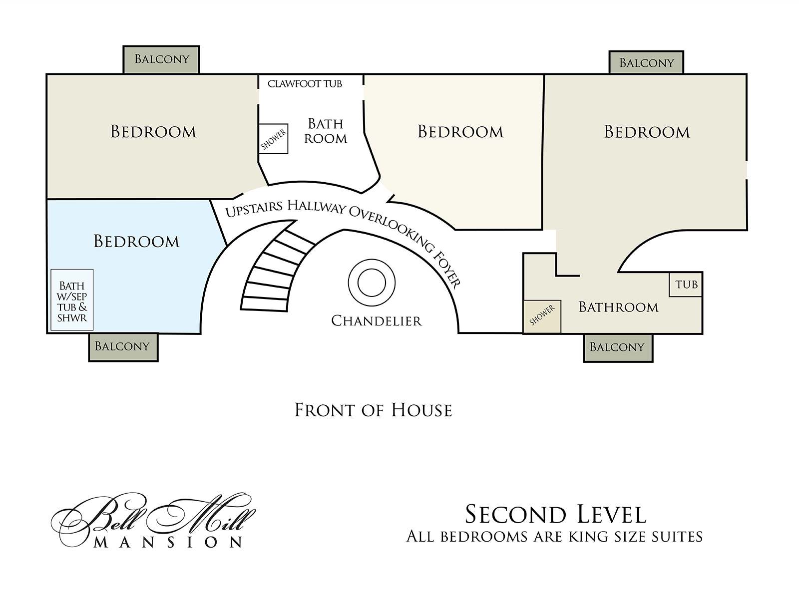 Bell Mill Mansion | Floor Plan - Upper Level